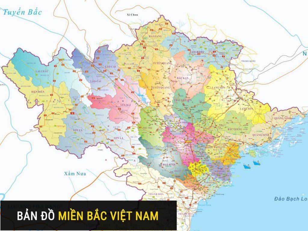 Bản đồ các tỉnh thành miền Bắc